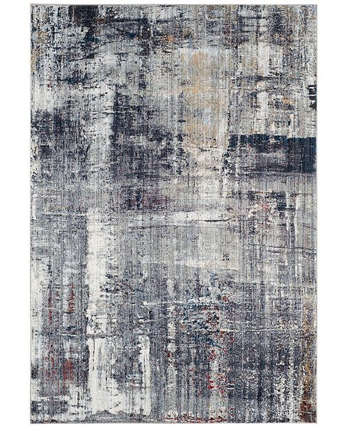 "Safavieh Monray Charcoal and Ivory 2'3"" x 8' Runner Area Rug"