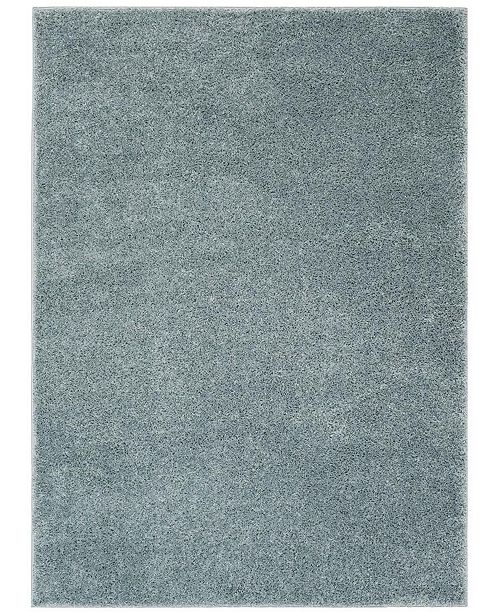 Safavieh New York Shag Blue 2' X 8' Runner Area Rug