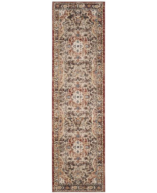 "Safavieh Bijar Brown and Rust 2'3"" x 12' Runner Area Rug"