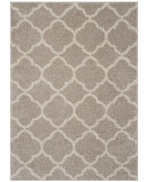 Safavieh New York Shag Light Gray and Ivory 9' X 12' Area Rug