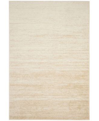 Adirondack Champagne and Cream 6' x 6' Square Area Rug