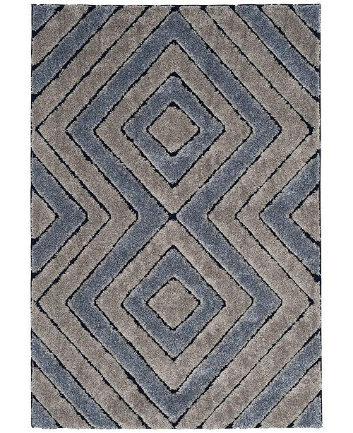 Safavieh Memphis Gray and Blue 4' x 6' Area Rug