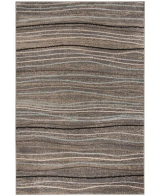 Amsterdam Silver and Beige 8' x 10' Area Rug