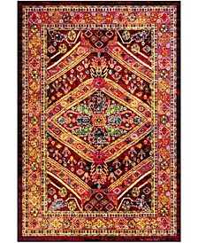 Cherokee Black and Light Orange 6' x 9' Area Rug