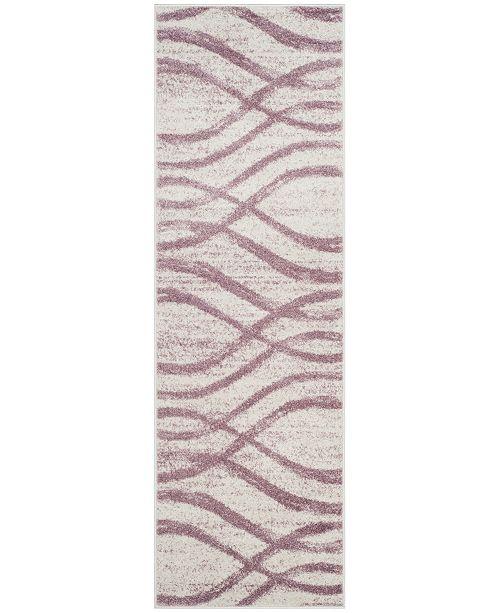 "Safavieh Adirondack Cream and Purple 2'6"" x 10' Runner Area Rug"