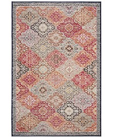 "Safavieh Montage Red and Aqua 2'3"" x 8' Runner Area Rug"