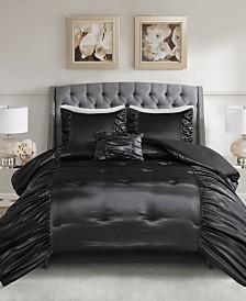 Madison Park Devon King/Cal King 4 Piece Silky Satin Comforter Set
