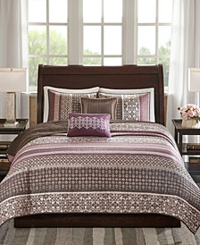 Madison Park Princeton Full/Queen 5 Piece Jacquard Coverlet Set