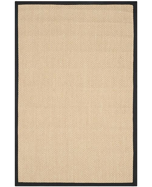 Safavieh Natural Fiber Maize and Black 6' x 9' Sisal Weave Area Rug
