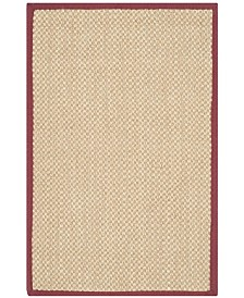 Safavieh Natural Fiber Maize and Burgundy 3' x 5' Sisal Weave Area Rug