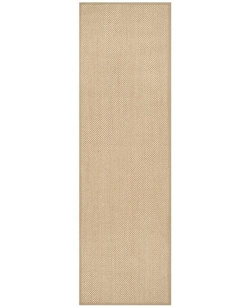 "Safavieh Natural Fiber Maize and Linen 2'6"" x 14' Sisal Weave Runner Area Rug"