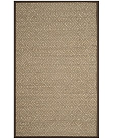 Safavieh Natural Fiber Natural and Brown 6' x 9' Sisal Weave Area Rug