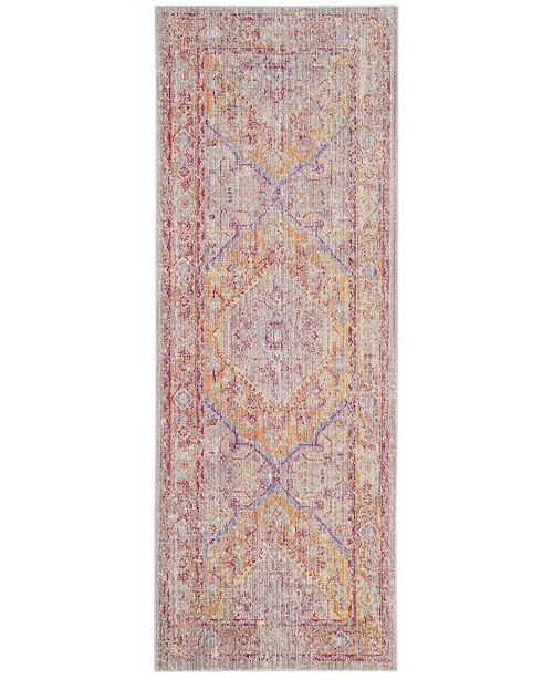 Safavieh Windsor Gray and Gold 3' x 8' Area Rug