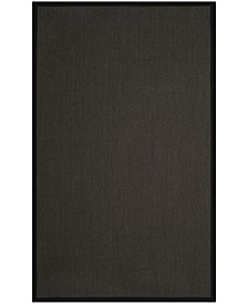 Natural Fiber Anthracite and Black 6' x 9' Sisal Weave Rug