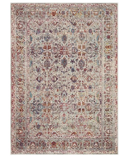 Safavieh Valencia Gray and Red 8' x 10' Area Rug