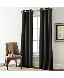 2 Pack Textured Black Out Curtain High Rise