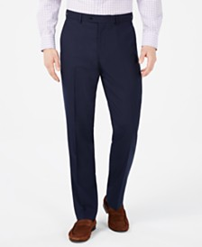 Vince Camuto Men's Slim-Fit Navy Pin-Dot Suit Pants