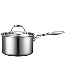 3-Quart Multi-Ply Clad Stainless Steel Saucepan with Lid
