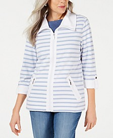 Zip-Front Casual Knit Jacket, Created for Macy's