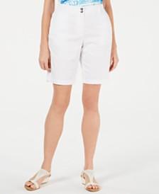 Karen Scott Curved Pocket Shorts, Created for Macy's