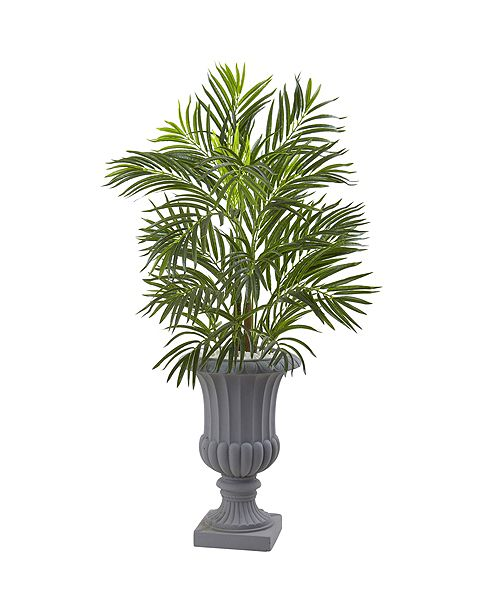 Nearly Natural 3.5' Areca Palm Tree w/ Gray Urn UV Resistant