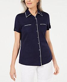 Karen Scott Button-Front Shirt
