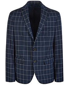 Big Boys Classic-Fit Stretch Windowpane Sport Coat