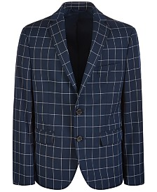Lauren Ralph Lauren Big Boys Classic-Fit Stretch Windowpane Sport Coat