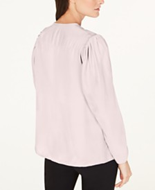Nanette Lepore Silk V-Neck Top, Created for Macy's