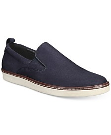 Alfani Men's Ronnie Twill Slip-Ons, Created for Macy's