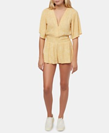 O'Neill Juniors' Tori Cotton Open-Back Romper