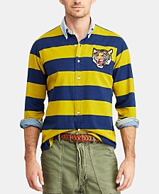 Polo Ralph Lauren Men's Big & Tall Classic Fit Striped Rugby Shirt
