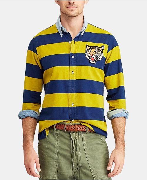 3b1004e52 Polo Ralph Lauren Men's Big & Tall Classic Fit Striped Rugby Shirt ...