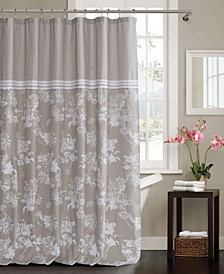 "Clara 54"" x 84"" Floral Shower Curtain"