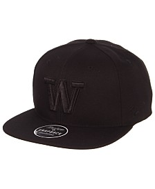 Zephyr Washington Huskies Z11 Black on Black Snapback Cap