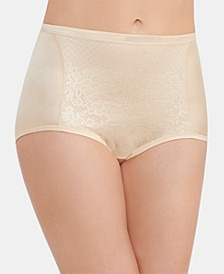 Smoothing Comfort with Lace Brief Underwear 13262, also available in extended sizes