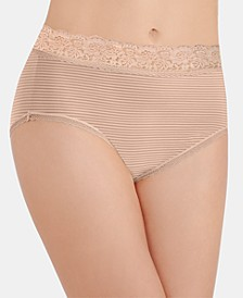 Flattering Lace Stretch Brief Underwear 13281, also available in extended sizes