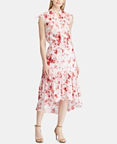 7bf9c4a0fb Lauren Ralph Lauren Floral-Print Cotton A-Line Dress