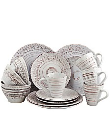 Elama Malibu Sands 16 Piece Dinnerware Set in Shell