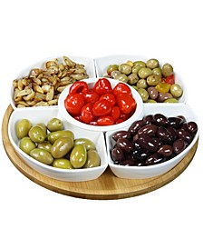 "Signature 12 1/4"" 6 Piece Lazy Susan Appetizer"