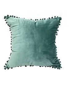 """Pompom 18"""" Decorative Throw Pillow"""