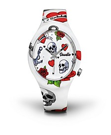 Doodle Watch Hearts And Skull