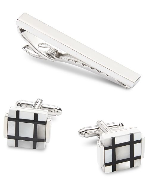 Novel Idea Men's Tie Bar & Cuff Link Set, Created for Macy's