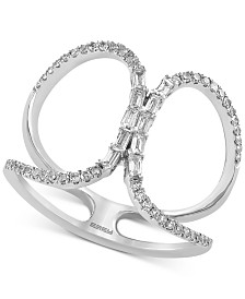 EFFY® Diamond Broad Loop Statement Ring (1/3 ct. t.w.) in 14k White Gold