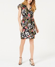 French Connection Floreta Printed Wrap Dress