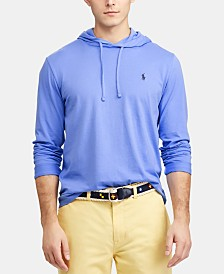 Polo Ralph Lauren Men's Big & Tall Hooded Long-Sleeve Cotton T-Shirt