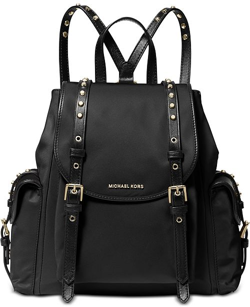 Michael Kors Leila Medium Flap Nylon Backpack