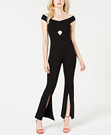 GUESS Jaziel Cutout Zip-Detail Jumpsuit