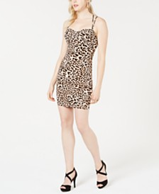 GUESS Samantha Leopard Print Bodycon Dress