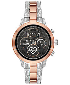 Michael Kors Access Women's Runway Two-Tone Stainless Steel & Crystal Bracelet Touchscreen Smart Watch 41mm